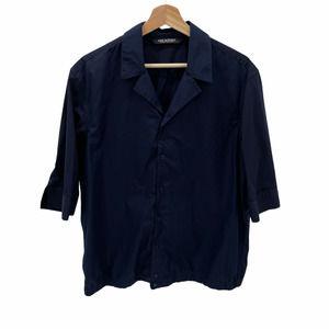Neil Barrett Navy Short Sleeve Button Front Shirt